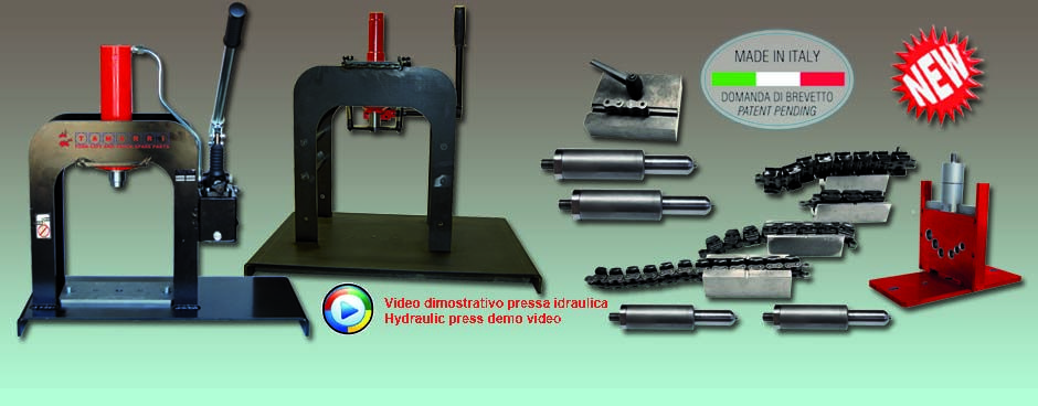 Hydraulic presses and chains cutting system kit